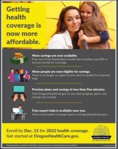 Oregon Health Care Flyer